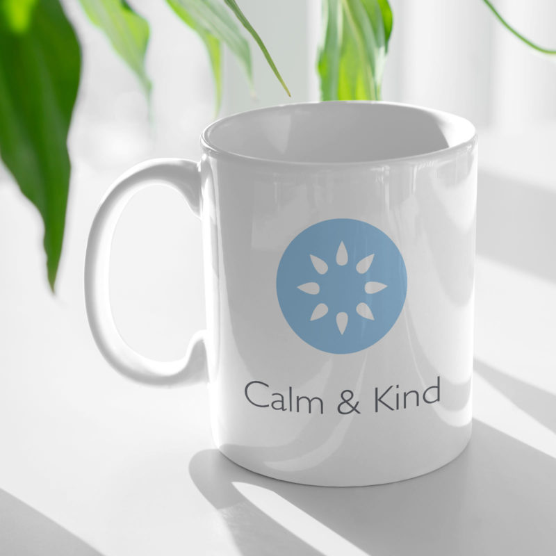 Calm and Kind Brand Identity Mug Mockup