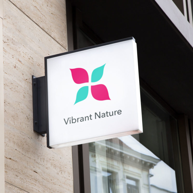 Vibrant Nature Visual Identity Sign Mockup
