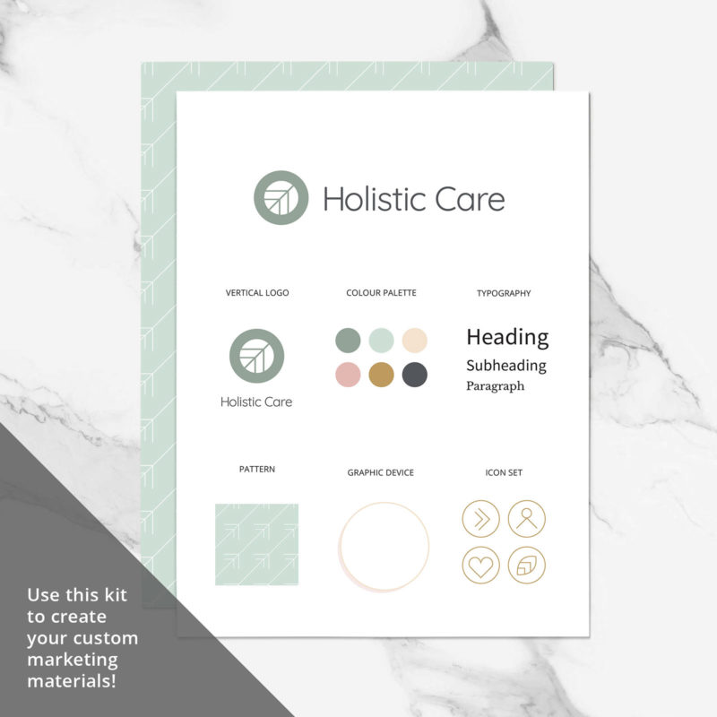 Holistic Care Visual Identity Brand Board