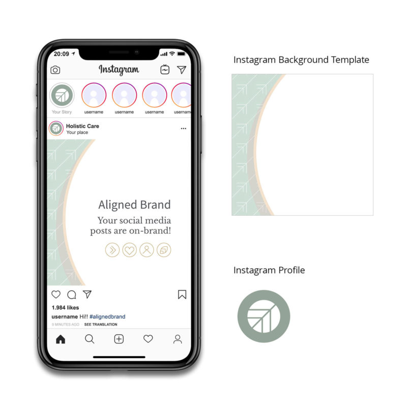 Holistic Care Visual Identity Instagram Mockup