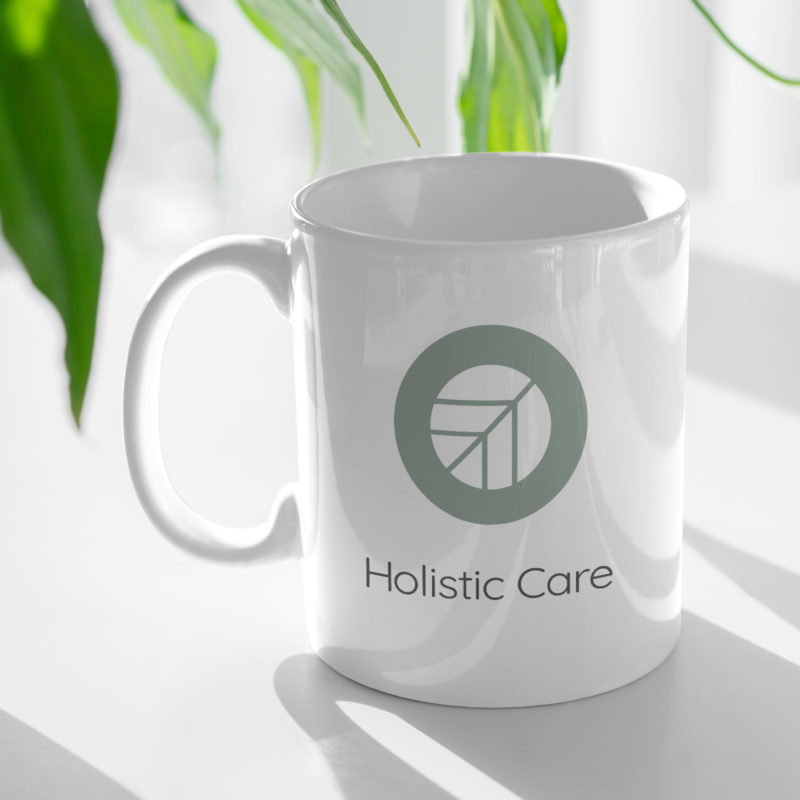 Holistic Care Logo Mug Mockup for Wellpreneurs
