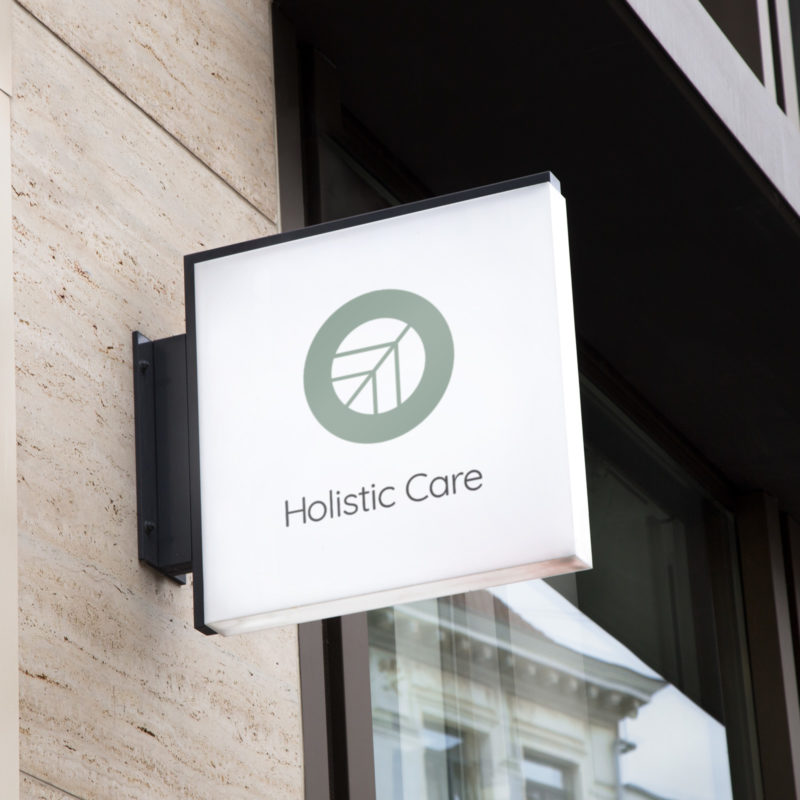 Holistic Care Logo Sign Mockup for Wellpreneurs