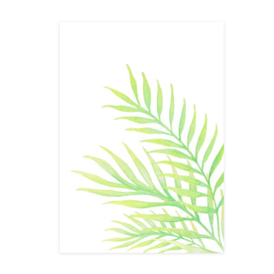 Watercolour palm graphic element for branding