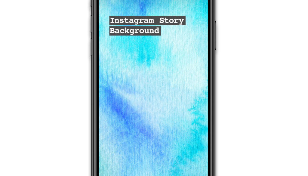 Instagram Story Watercolour background blue