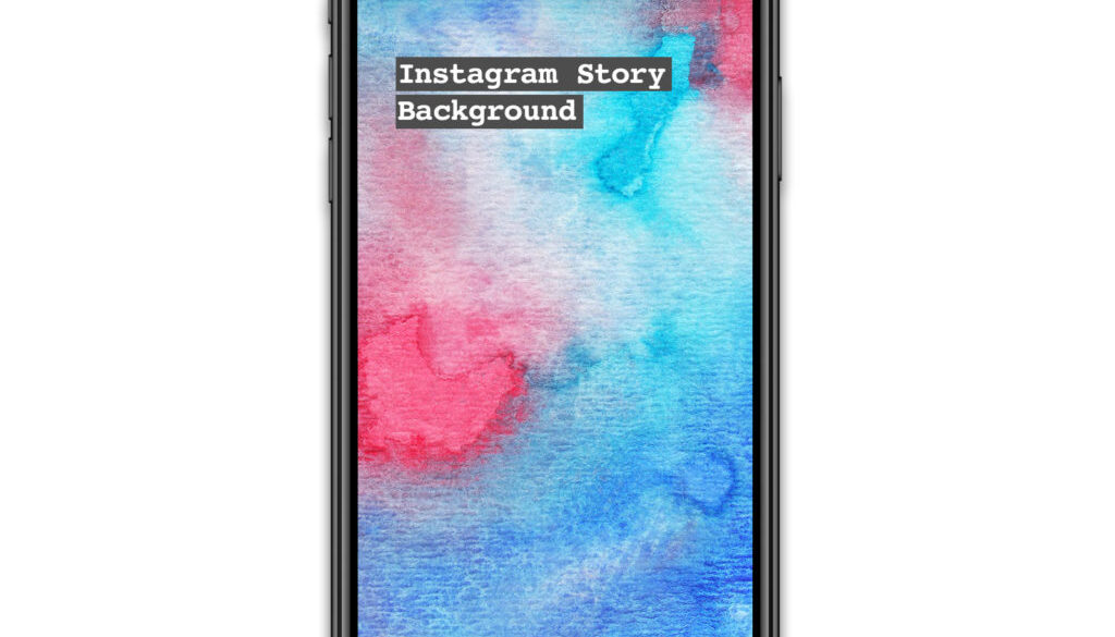 Instagram Story Watercolour background red and blue