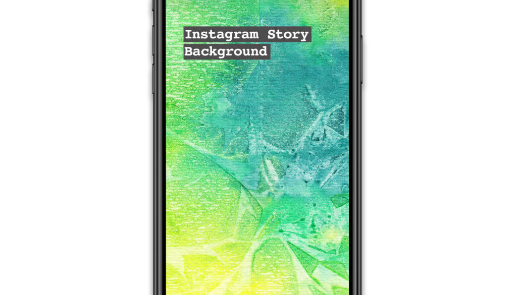 Instagram Story Watercolour background green