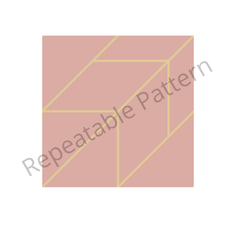 Rose and Gold Line Pattern Repeatable