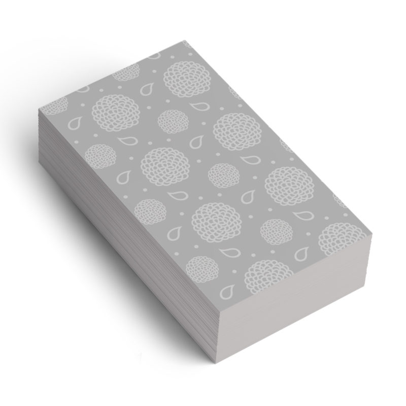 Grey Floral Pattern Branding Business Card mockup