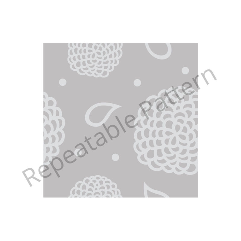 Grey Floral Pattern Branding Repeatable