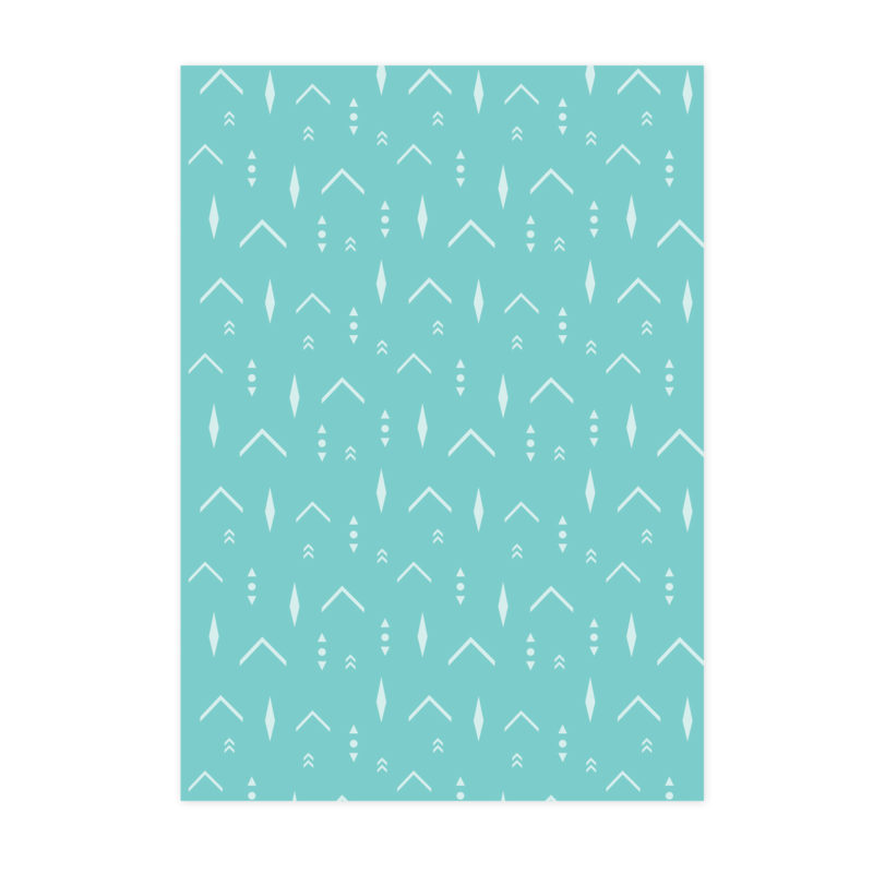 Turquoise Arrows Pattern