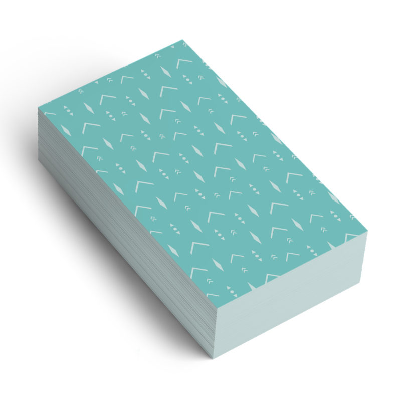 Turquoise Arrows Pattern Business Card Back