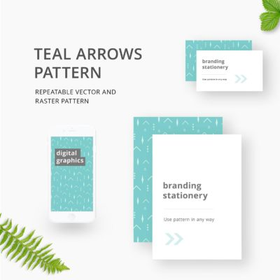 Turquoise Arrows Pattern Repeatable for Branding