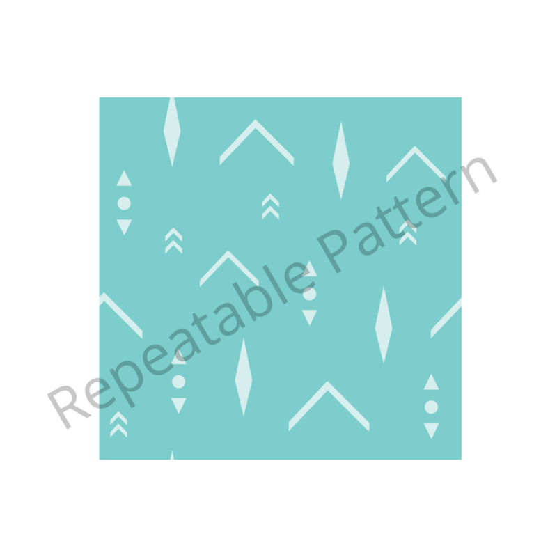 Turquoise Arrows Pattern Repeatable