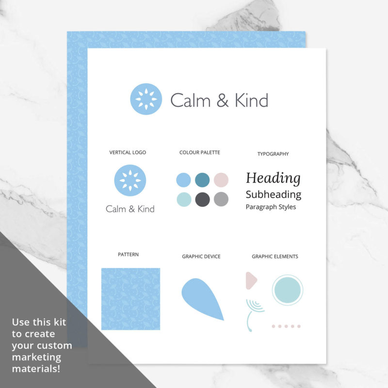 Calm & Kind Brand Visual Identity