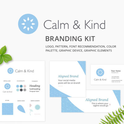 Calm & Kind Visual Identity