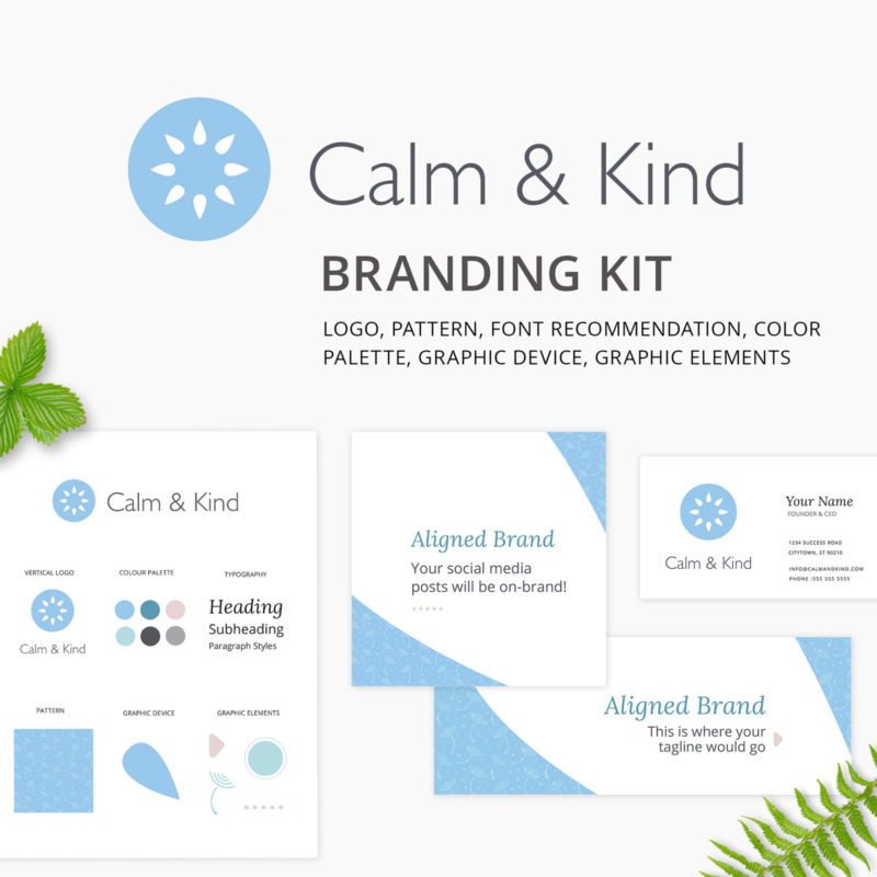 Calm & Kind Branding Kit