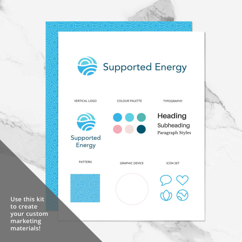 Supported Energy Brand Visual Identity