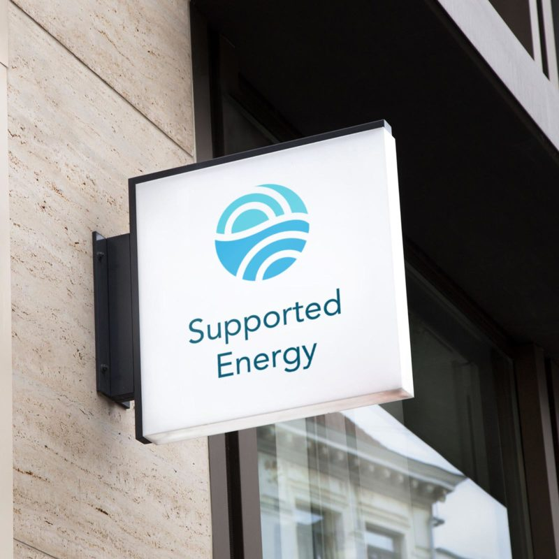 Supported Energy Brand Visual Identity Sign mockup