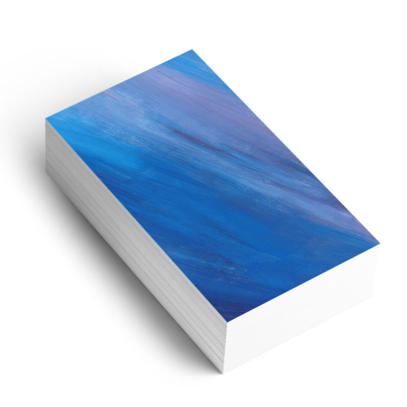 Blue and Purple acrylic paint background on business card